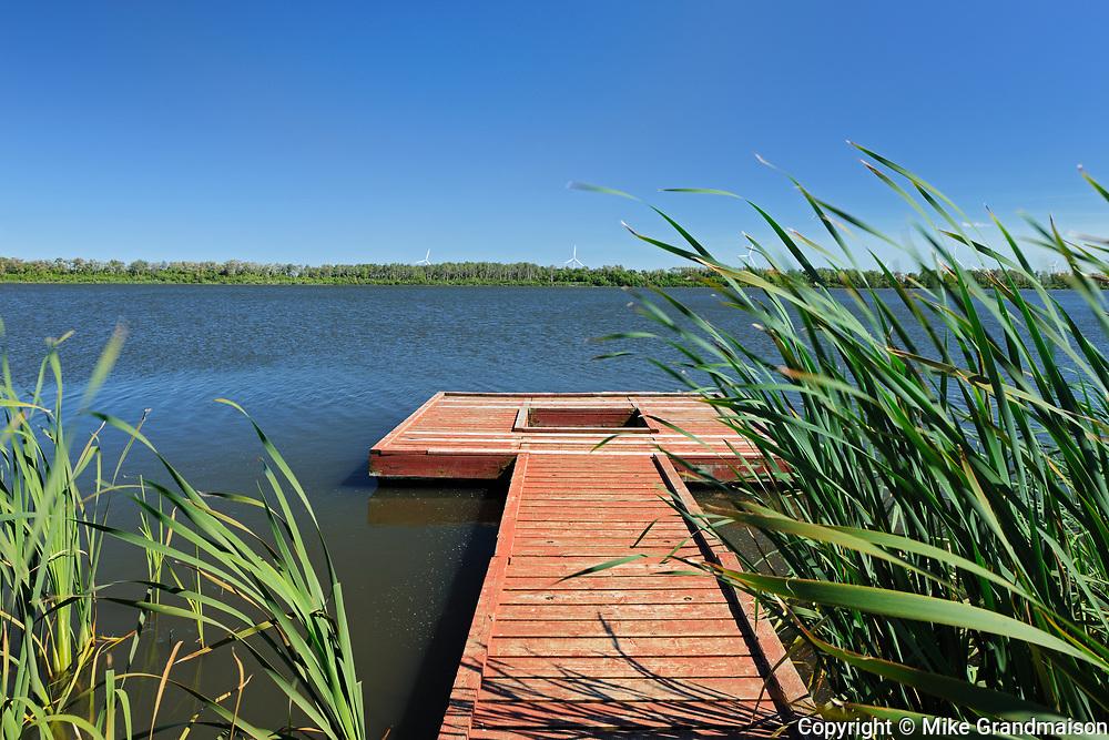 Lac St. Leon and dock, Saint Leon, Manitoba, Canada