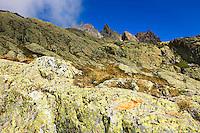 Mountain impression Aiguilles Rouges - Europe, France, Haute Savoie, Aiguilles Rouges, Lacs des Chesery - Noon - September 2008