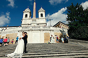 Rome, wedding on the stairs of Piazza di Spagna