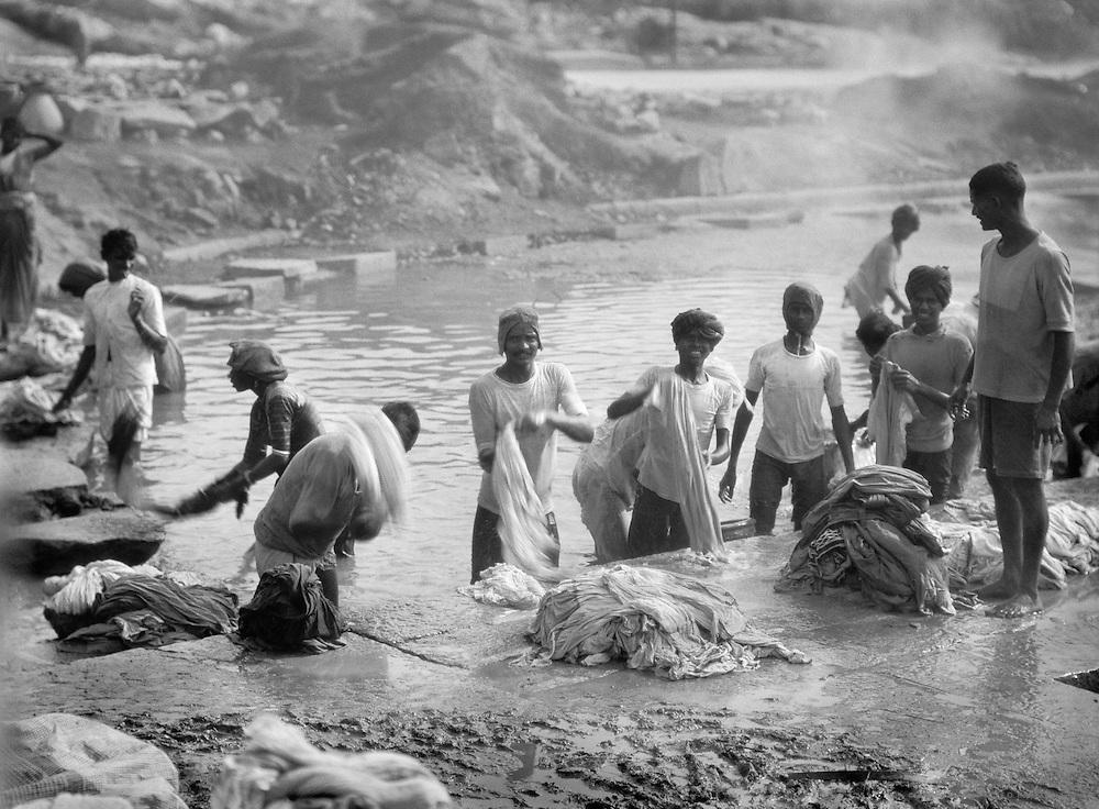 Laundry, Dhobi Ghat, Secunderabad, India, 1929