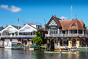 Henley on Thames, England, United Kingdom, 6th July 2019, Henley Royal Regatta,  from the base, of the press Box,  [© Peter SPURRIER/Intersport Image]<br /> <br /> 09:45:28