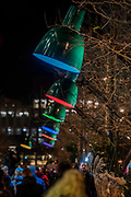 LAMPOUNETTE by <br /> TILT - Lumiere London is a light festival that takes place over four evenings, from Thursday 18 to Sunday 21 January 2018. It showcases the capital's architecture and streets, with more than 50 works created by leading UK and international artists. The free outdoor festival returns to London for the second time following the success of the first edition in January 2016, which attracted an estimated 1.3 million visits. The 2018 edition has an expanded footprint extending north to south, from King's Cross, through Fitzrovia, Mayfair, and London's West End, to Trafalgar Square, Westminster, Victoria, South Bank and Waterloo. Lumiere is produced by Artichoke, the UK's leading producer of outdoor art events.