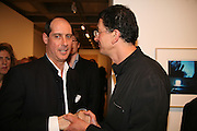 Fabrizio Petri and Antony Gormley . Antony Gormley - private view,  Hayward Gallery, South Bank, London, 16 May 2007.  -DO NOT ARCHIVE-© Copyright Photograph by Dafydd Jones. 248 Clapham Rd. London SW9 0PZ. Tel 0207 820 0771. www.dafjones.com.