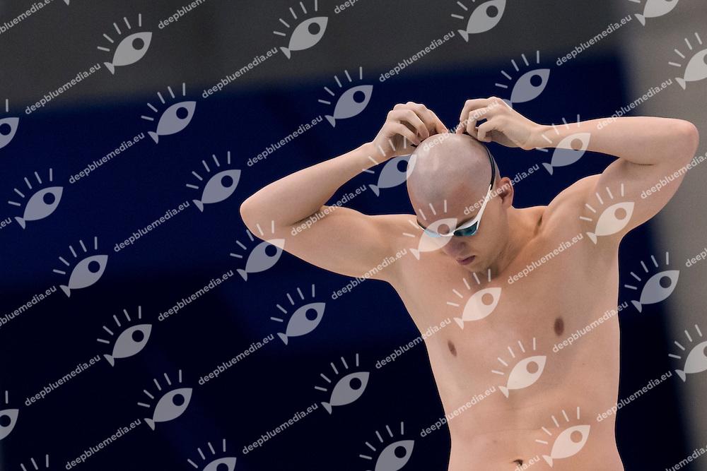 CSEH Laszlo HUN gold medal<br /> London, Queen Elizabeth II Olympic Park Pool <br /> LEN 2016 European Aquatics Elite Championships <br /> Swimming<br /> Men's 100m butterfly final<br /> Day 13 21-05-2016<br /> Photo Giorgio Perottino/Deepbluemedia/Insidefoto