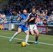 Dundee&rsquo;s Kevin Holt goes past Kilmarnock&rsquo;s Conor Sammon - Kilmarnock v Dundee in the Ladbrokes Scottish Premiership at Rugby Park, Kilmarnock, Photo: David Young<br /> <br />  - &copy; David Young - www.davidyoungphoto.co.uk - email: davidyoungphoto@gmail.com