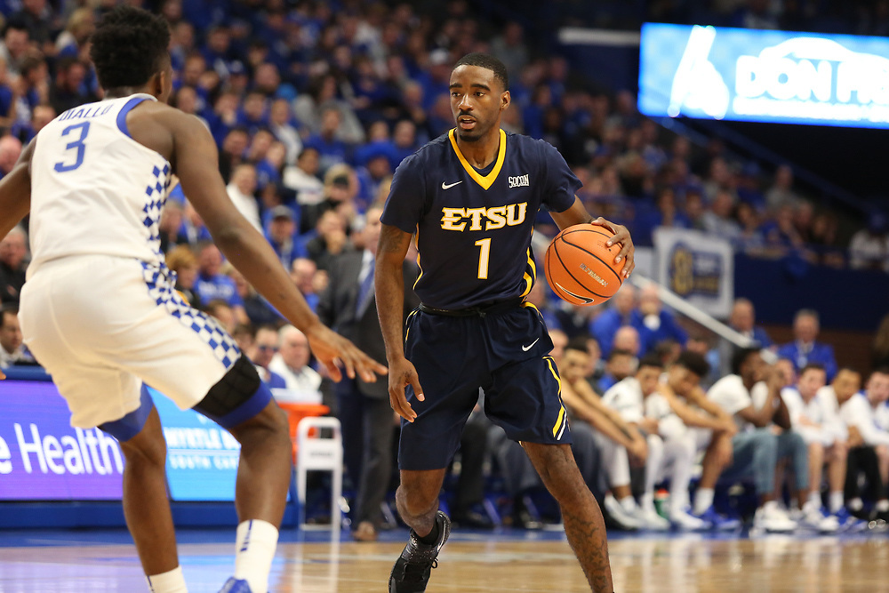 November 17, 2017 - Lexington, Kentucky - Rupp Arena: ETSU guard Desonta Bradford (1)<br /> <br /> Image Credit: Dakota Hamilton/ETSU