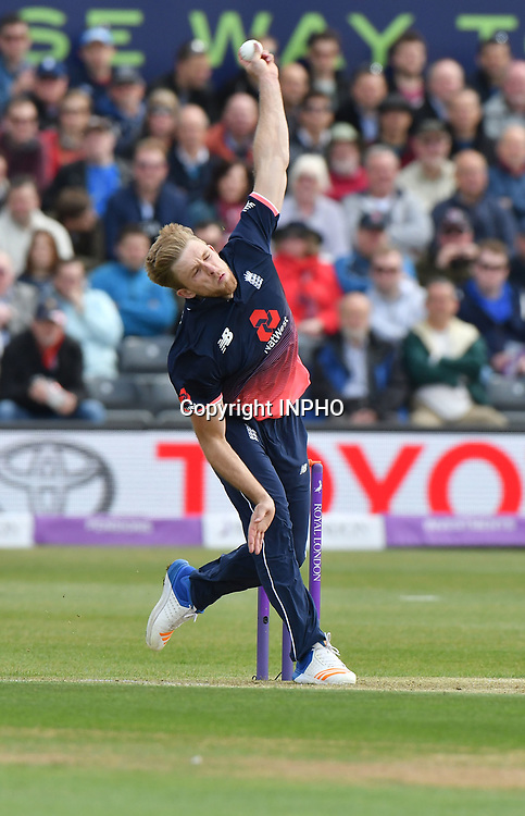 1st One Day International, Bristol Cricket Ground, England 5/5/2017<br /> England vs Ireland<br /> England's David Willey bowls<br /> Mandatory Credit &copy;INPHO/Presseye/Rowland White