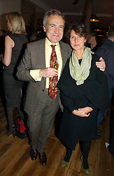 STEPHEN & FLO BAYLEY at the opening party for Tom's Kitchen - the restaurant of Tom Aikens at 27 Cale Street, London SW3 on 1st November 2006.<br />