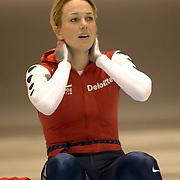 NLD/Heerenveen/20060122 - WK Sprint 2006, 2de 1000 meter dames, Marianne Timmer teleurgesteld