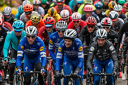 Peloton with Julian Alaphilippe (FRA) of Deceuninck - Quick Step (BEL,WT,Specialized) and Philippe Gilbert (BEL) of Deceuninck - Quick Step (BEL,WT,Specialized) at Côte de Stockeu during the 2019 Liège-Bastogne-Liège (1.UWT) with 256 km racing from Liège to Liège, Belgium. 28th April 2019. Picture: Pim Nijland | Peloton Photos<br /> <br /> All photos usage must carry mandatory copyright credit (Peloton Photos | Pim Nijland)