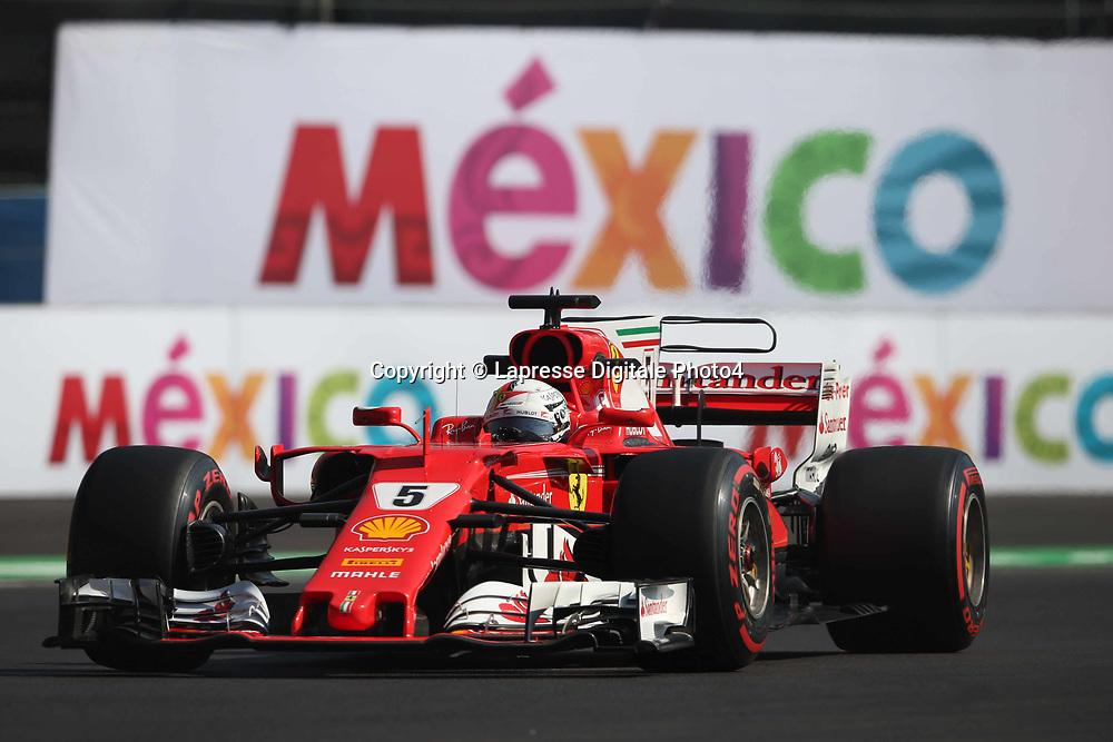 &copy; Photo4 / LaPresse<br /> 27/10/2017 Mexico City, Mexico<br /> Sport <br /> Grand Prix Formula One Mexico 2017<br /> In the pic: Sebastian Vettel (GER) Scuderia Ferrari SF70H