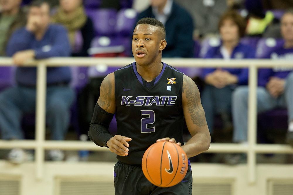 FORT WORTH, TX - JANUARY 7: Marcus Foster #2 of the Kansas State Wildcats brings the ball up court against the TCU Horned Frogs on January 7, 2014 at Daniel-Meyer Coliseum in Fort Worth, Texas.  (Photo by Cooper Neill/Getty Images) *** Local Caption *** Marcus Foster