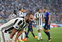 October 14, 2017 - Turin, Piedmont, Italy - Gonzalo Higuain (Juventus FC) during the Serie A football match between Juventus FC and SS Lazio at Olympic Allianz Stadium on 14 October, 2017 in Turin, Italy. (Credit Image: © Massimiliano Ferraro/NurPhoto via ZUMA Press)