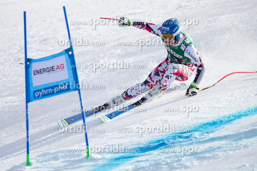 27.02.2016, Hannes Trinkl Rennstrecke, Hinterstoder, AUT, FIS Weltcup Ski Alpin, Hinterstoder, Super G, Herren, im Bild Romed Baumann (AUT) // Romed Baumann of Austria competes during his run of men's Super G of Hinterstoder FIS Ski Alpine World Cup at the Hannes Trinkl Rennstrecke in Hinterstoder, Austria on 2016/02/27. EXPA Pictures © 2016, PhotoCredit: EXPA/ Johann Groder