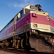 Locomotive for the MBTA commuter trains in Boston, Massachusetts