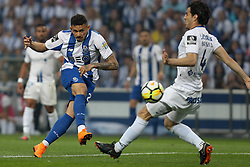 May 6, 2018 - Porto, Porto, Portugal - Porto's Brazilian forward Soares (L) in action with Feirense's Mexican defender Antonio Briseno (R) during the Premier League 2017/18 match between FC Porto and CD Feirense, at Dragao Stadium in Porto on May 6, 2018. (Credit Image: © Dpi/NurPhoto via ZUMA Press)