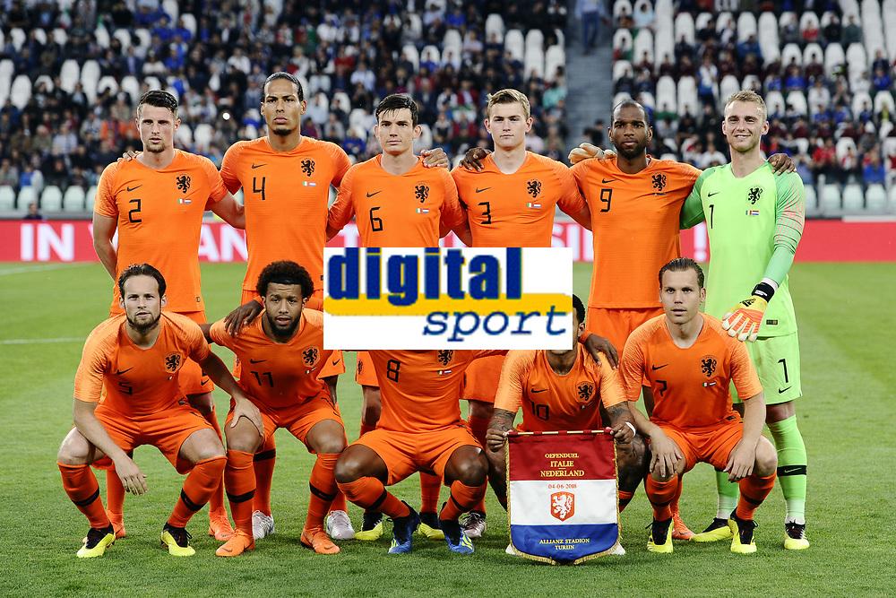 formazione Olanda  <br /> Torino 04-06-2018 Allianz Stadium <br /> Football Friendly Match Italy - Netherlands <br /> Calcio Amichevole Italia - Olanda <br /> Foto Daniele Buffa / Image Sport / Insidefoto