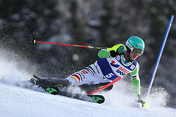06.01.2014, Stelvio, Bormio, ITA, FIS Ski Alpin Weltcup, Salom, Herren, 1. Durchgang, im Bild Felix Neureuther (GER) // Felix Neureuther of Germany in action during 1st run of mens Slalom of the Bormio FIS Ski World Cup at the Stelvio Course in Bormio, Italy on 2014/01/06. EXPA Pictures © 2014, PhotoCredit: EXPA/ Sammy Minkoff<br /> <br /> *****ATTENTION - OUT of GER*****