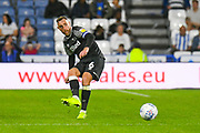 Richard Keogh of Derby County (6) passes the ball during the EFL Sky Bet Championship match between Huddersfield Town and Derby County at the John Smiths Stadium, Huddersfield, England on 5 August 2019.