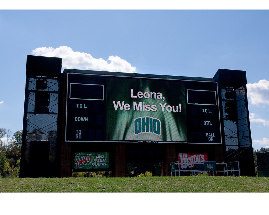 OU. Scoreboard ?Leona, We miss you?
