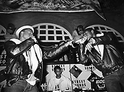 UK rap act Phase 1 performing at the Limelight club for the launch of the Streetsounds record label, London, UK, 1986