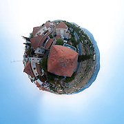Polar panorama of an Israeli settlement