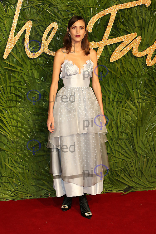 Alexa Chung, The Fashion Awards 2017, The Royal Albert Hall, London UK, 04 December 2017, Photo by Richard Goldschmidt