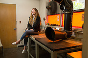 San Jose State University Department of Design student Allie Sieben poses for a portrait at San Jose State University's Art Building in San Jose, California, on May 13, 2016. (Stan Olszewski/SOSKIphoto)
