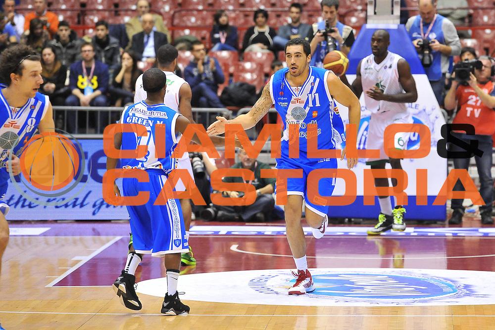 DESCRIZIONE : Milano Final Eight Coppa Italia 2014 Finale Montepaschi Siena - Dinamo Banco di Sardegna Sassari<br /> GIOCATORE : Drew Gordon<br /> CATEGORIA : Ritratto Esultanza<br /> SQUADRA : Dinamo Banco di Sardegna Sassari<br /> EVENTO : Final Eight Coppa Italia 2014 Milano<br /> GARA : Montepaschi Siena - Dinamo Banco di Sardegna Sassari<br /> DATA : 09/02/2014<br /> SPORT : Pallacanestro <br /> AUTORE : Agenzia Ciamillo-Castoria / Luigi Canu<br /> Galleria : Final Eight Coppa Italia 2014 Milano<br /> Fotonotizia : Milano Final Eight Coppa Italia 2014 Finale Montepaschi Siena - Dinamo Banco di Sardegna Sassari<br /> Predefinita :
