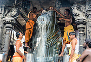 Annamalaiyar Temple is a Hindu temple dedicated to the deity Shiva, located at the base of Annamalai hills in the town of Thiruvannamalai in Tamil Nadu, India. It is significant to the Hindu sect of Saivism as one of the temples associated with the five elements, the Pancha Bhoota Stalas, and specifically the element of fire, or Agni. Shiva is worshiped as Annamalaiyar or Arunachaleswarar, and is represented by the lingam, with his idol referred to as Agni lingam. His consort Parvati is depicted as Unnamulai Amman