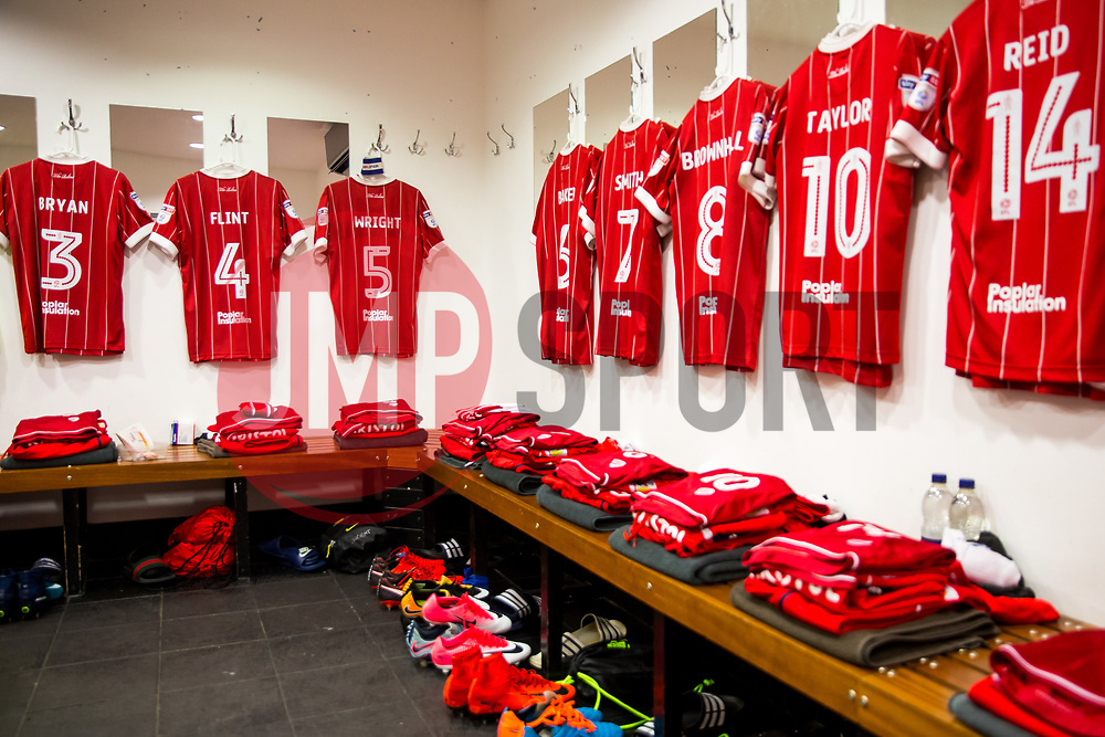 General View inside the Bristol City dressing room - Rogan/JMP - 23/12/2017 - Loftus Road - London, England - Queens Park Rangers v Bristol City - Sky Bet Championship.