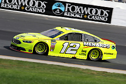 July 21, 2018 - Loudon, NH, U.S. - LOUDON, NH - JULY 21: Ryan Blaney, driver of the #12 Menards/Sylvania Ford during practice for the Monster Energy Cup Series Foxwoods Resort Casino 301 race on July, 21, 2018, at New Hampshire Motor Speedway in Loudon, NH. (Photo by Malcolm Hope/Icon Sportswire) (Credit Image: © Malcolm Hope/Icon SMI via ZUMA Press)