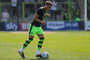 Forest Green Rovers Jordan Simpson(12) warming up during the EFL Sky Bet League 2 match between Forest Green Rovers and Grimsby Town FC at the New Lawn, Forest Green, United Kingdom on 5 May 2018. Picture by Shane Healey.