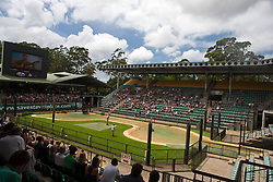 General view of The Crocoseum, amphitheater during a show,The Australia Zoo, Beerwah, Queensland, Australia