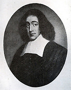 Baruch Despinoza 1632-1677.  Dutch Jewish philosopher, a major exponent of 17th century rationalism.  His father and grandfather fled persecution by the Inquisition in Porugal. His early interest in new scientific and philosophical ideas led to his expulsion from the synagogue in 1656.  He made is living as a lens grinder and polisher. His books were put on the Catholic Church's Index of forbidden books.