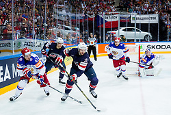 Artyom Anisimov of Russia vs Nick Bonino of USA during Ice Hockey match between USA and Russia at Semifinals of 2015 IIHF World Championship, on May 16, 2015 in O2 Arena, Prague, Czech Republic. Photo by Vid Ponikvar / Sportida