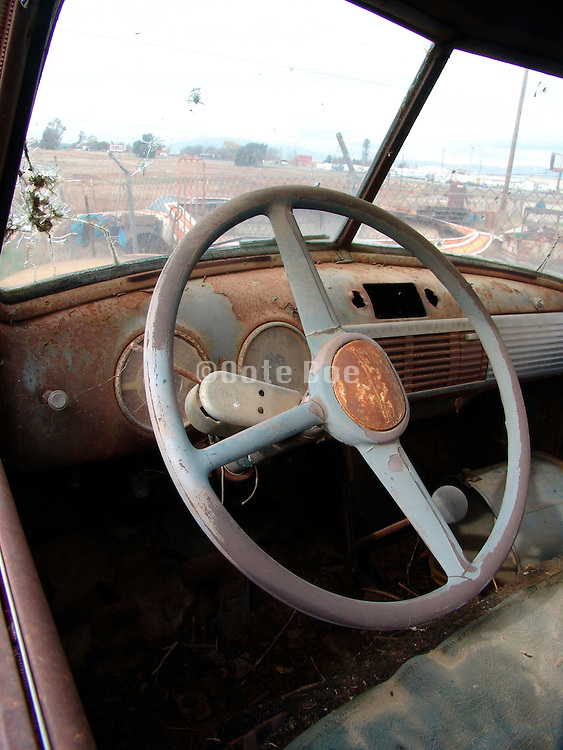 An old abandoned car.