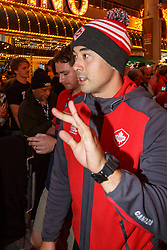 February 28, 2019 - U.S. - LAS VEGAS, NV - MARCH 01: Nathan Hirayama of Canada in the all nations parade the evening before the USA Rugby Sevens held March 1-3, 2019 at Sam Boyd Stadium in Las Vegas, NV. (Photo by Allan Hamilton/Icon Sportswire) (Credit Image: © Allan Hamilton/Icon SMI via ZUMA Press)