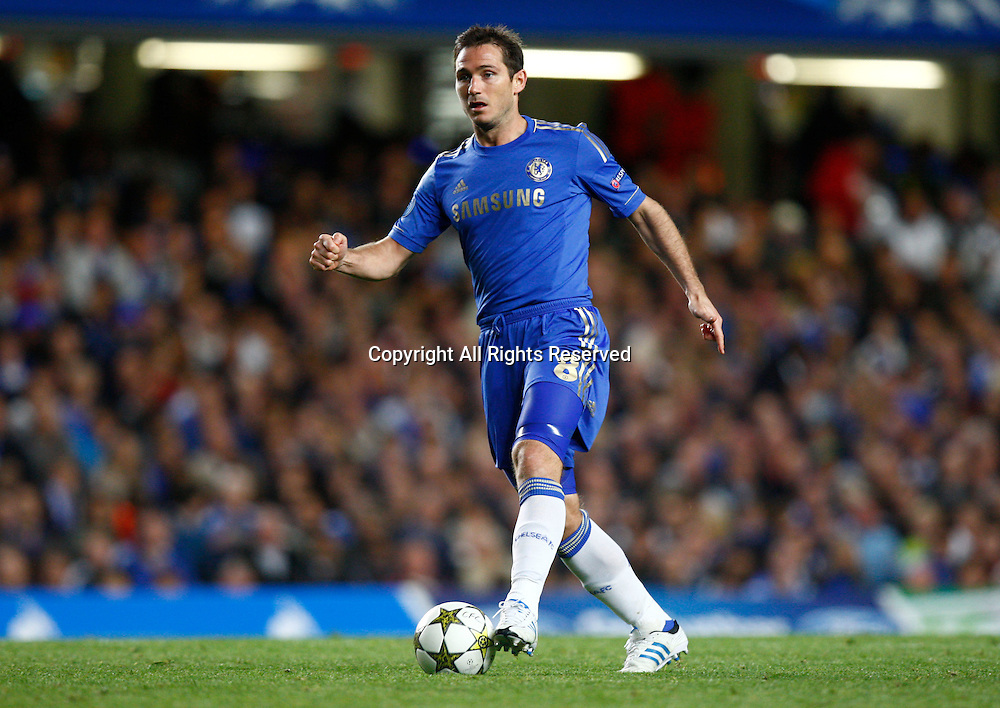 19.09.12 London, ENGLAND: <br /> Frank Lampard of Chelsea<br /> during the UEFA Champions League Group E match between Chelsea and  Juventus at Stamford Bridge Stadium