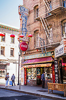 An exterior view of Eastern Bakery in San Fransisco's China Town, California, USA.