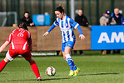 Brighton's Sophie Perry during the FA Women's Premier League match between Brighton Ladies and Cardiff City Ladies at Brighton's Training Ground, Lancing, United Kingdom on 22 March 2015. Photo by Geoff Penn.