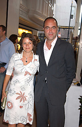 Actor JAMES NESBITT and his wife SONYA at a party to celebrate the publication of iPod, Therefore I am by Dylan Jones held at Asprey, 169 New Bond Street, London W1 on 14th July 2005.<br /><br />NON EXCLUSIVE - WORLD RIGHTS