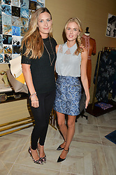 Left to right, TANSY ASPINALL and DONNA AIR at a party to celebrate the launch of Baar & Bass, 336 Kings Road, London on 9th September 2014.