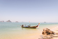 longtail boats in khlong muang krabi thailand