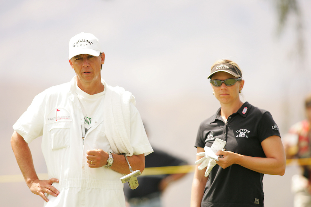 Annika Sorenstam.Terry McNamara (Caddie)..2005 Kraft-Nabisco ChampionshipFourth Round.Mission Hills CC.Rancho Mirage, CA.Sunday March 27 2005..photograph by Darren Carroll. 03-27-05