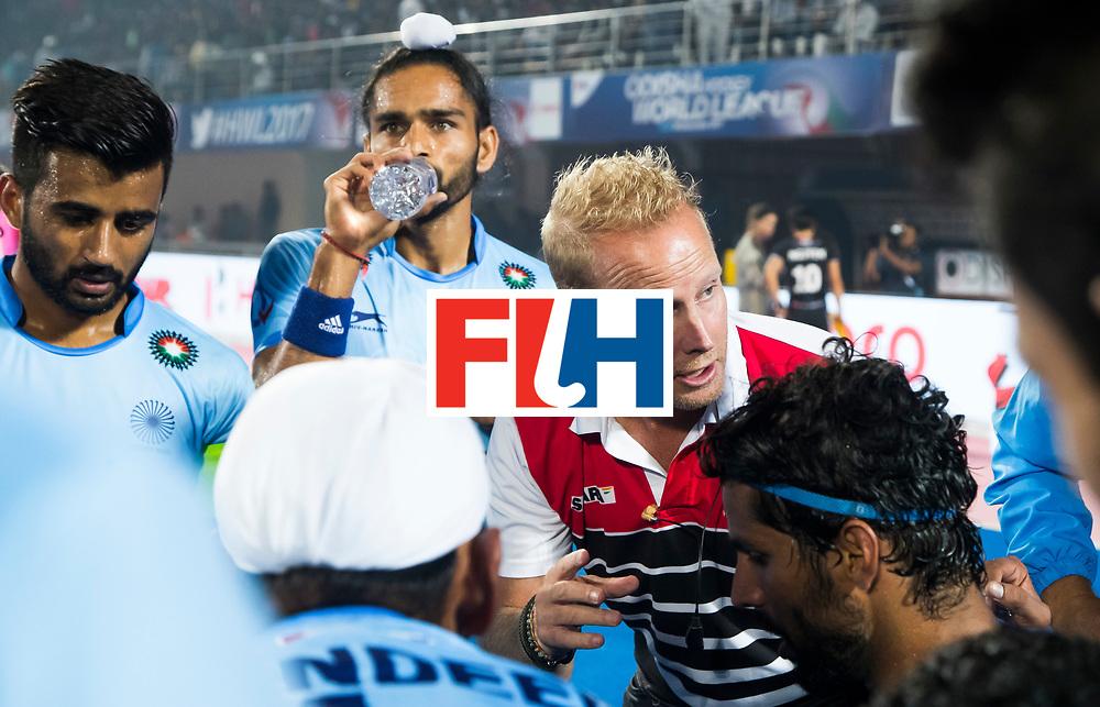 BHUBANESWAR - The Odisha Men's Hockey World League Final . coach Sjoerd Marijne (Ind) during  the match India v Germany. WORLDSPORTPICS COPYRIGHT  KOEN SUYK