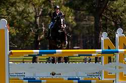 March 22, 2019 - Raeford, North Carolina, US - March 22, 2019 - Raeford, N.C., USA - CORNELIA DOOR of the United States riding SIR PATICO MH competes in the show jumping CCI-4S division at the sixth annual Cloud 11-Gavilan North LLC Carolina International CCI and Horse Trial, at Carolina Horse Park. The Carolina International CCI and Horse Trial is one of North AmericaÃ•s premier eventing competitions for national and international eventing combinations, hosting International competition at the CCI2*-S through CCI4*-S levels and National levels of Training through Advanced. (Credit Image: © Timothy L. Hale/ZUMA Wire)