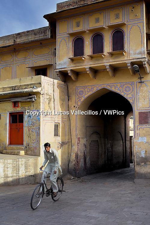 gateway to the City palace. Jaipur, Rajasthan, India