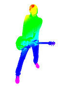 Famous quotes series: colourful guitar player. Music is my passion