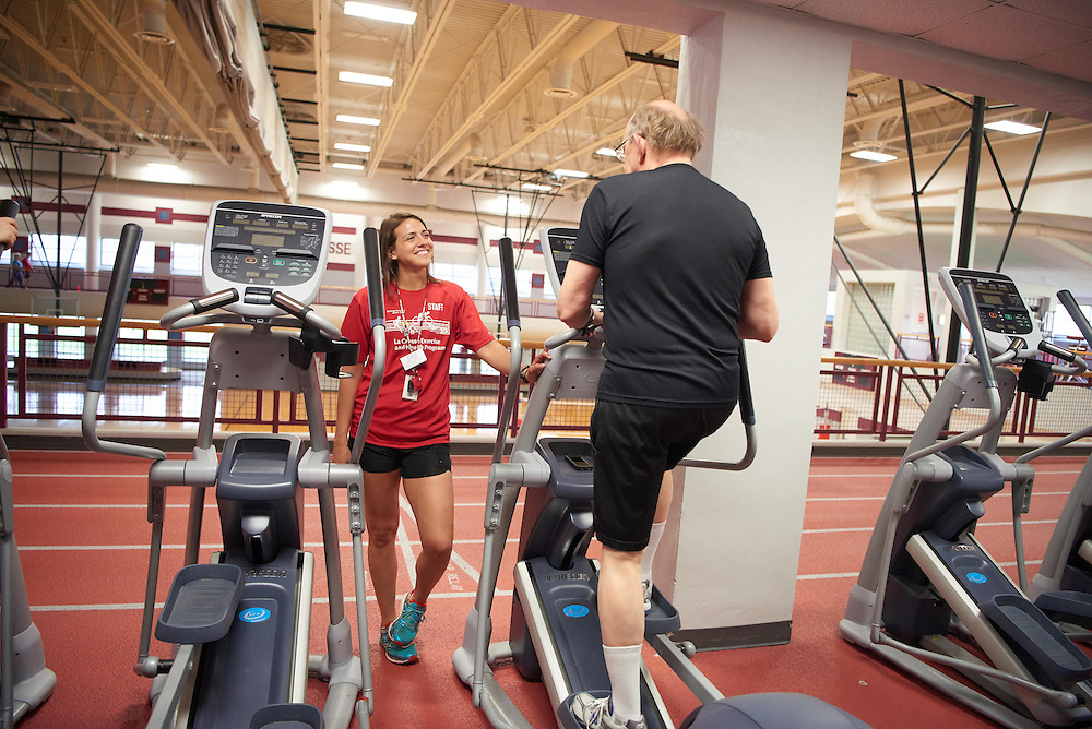Activity; Community Service; Exercise; Buildings; Recreational Eagle Center Rec; Location; Inside; People; Student Students; Spring; April; Time/Weather; day; Type of Photography; Candid; UWL UW-L UW-La Crosse University of Wisconsin-La Crosse Maria Cress